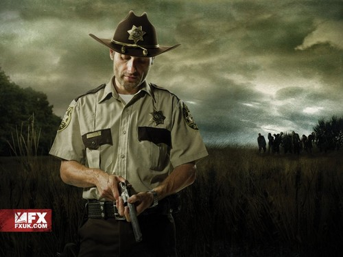"The Walking Dead wallpaper with a snap brim hat, a green beret, and a campaign hat entitled The Waking Dead ""Walkpaper"""