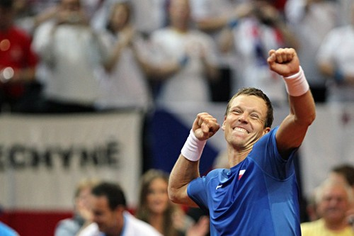 Tomas Berdych huge pleasure - tennis Photo
