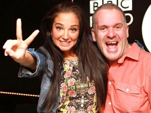 Tulisa with Chris Moyles