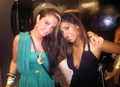 Tulisa with Tina (from Radio 1) in the toilets in Ibiza!