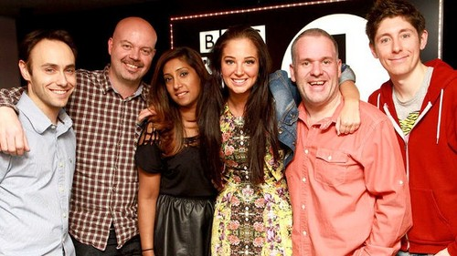 Tulisa with the Radio 1 Team