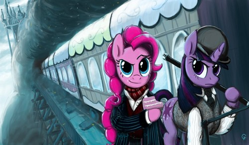 Twilight and Pinkie Pie