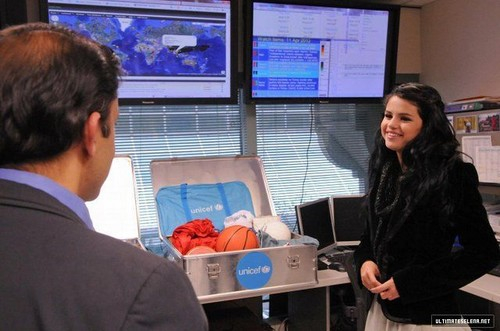 Visiting UNICEF's office in New York - April 11