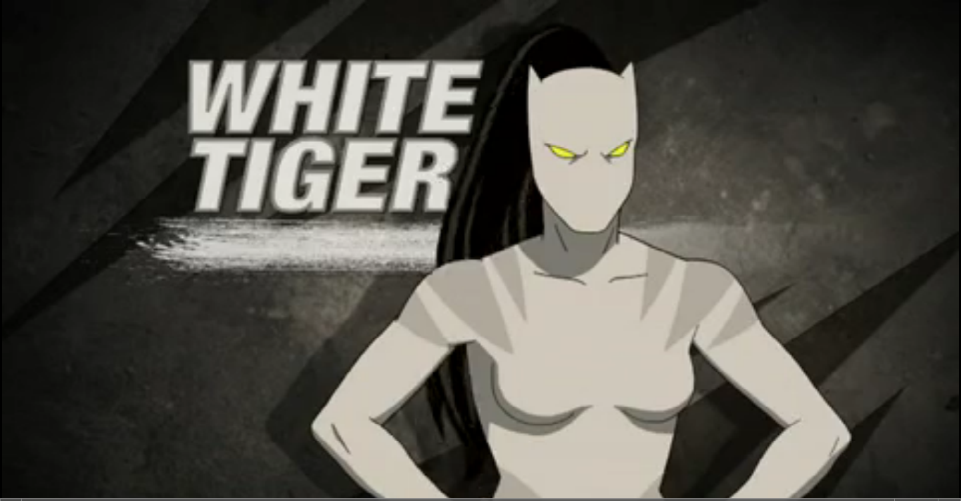 Ultimate spider man white tiger