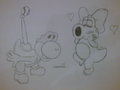 Yoshi and Birdo love - yoshi-and-birdo fan art