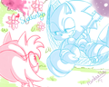 You're here in my arms - sonic-and-amy fan art