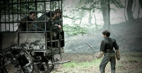Arya Stark wallpaper called Arya Stark, Jaqen H'ghar, Rorge & Biter