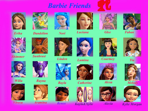 Barbie friends.