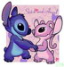 bluexpinktogether - stitch-x-angel icon