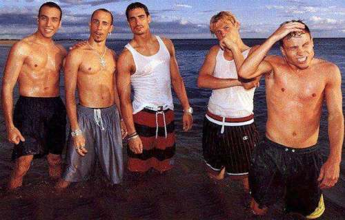 The Backstreet Boys 바탕화면 containing a six pack, a hunk, and swimming trunks called bsb