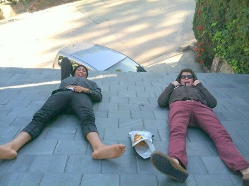 chillin on the roof. A typical Sunday haha