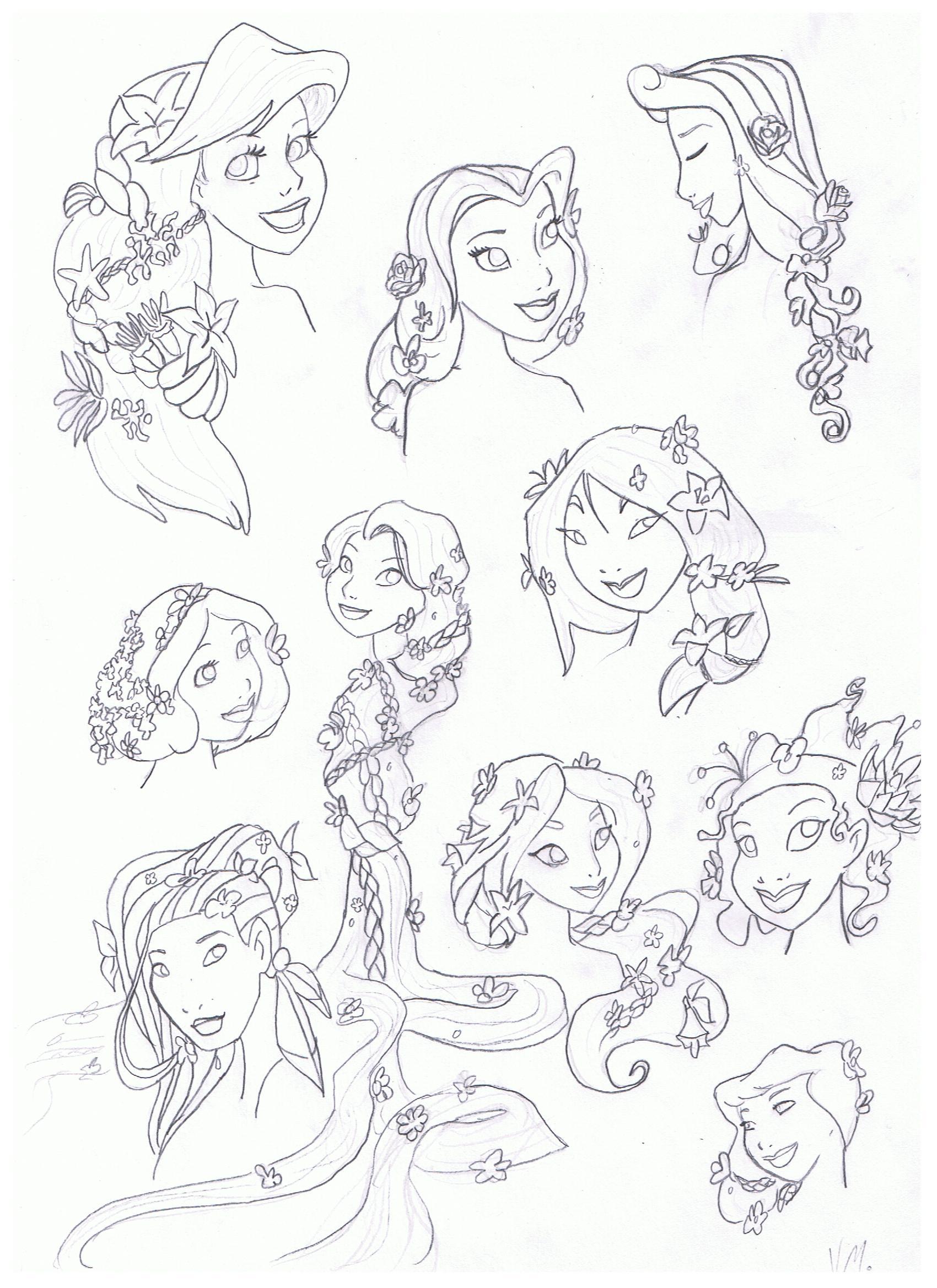 迪士尼公主 images 花 hairstyle hd wallpaper and background photo
