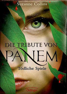german book cover of the hunger games
