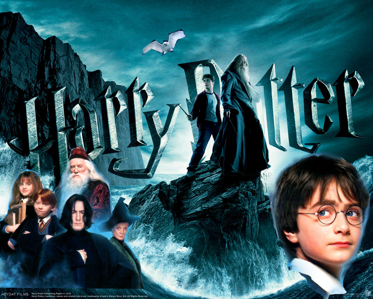 harry potter wallpaper (picture's mixed up)
