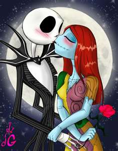jack and sally kissing - jack-and-sally Photo