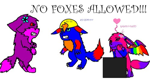 me and my BF NO FOXES ALLOWED: