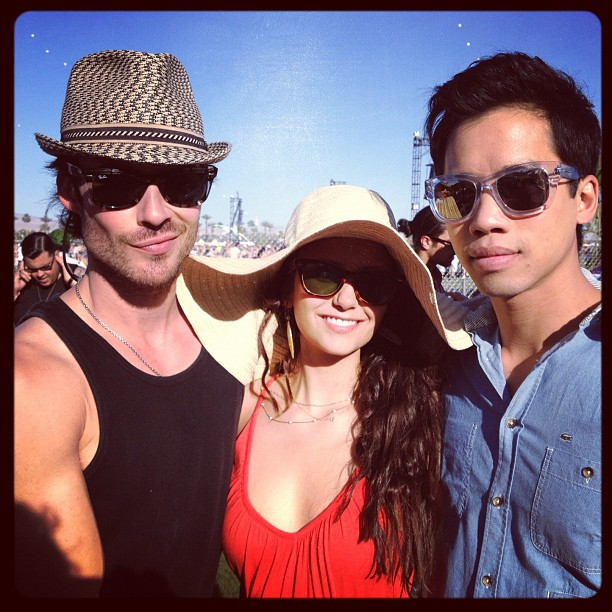 nian and just jared - ian-somerhalder-and-nina-dobrev photo