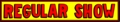 regular show logo (bob's burgers style)