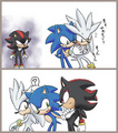 sonic+silver=one jealous shadow - sonic-yaoi fan art