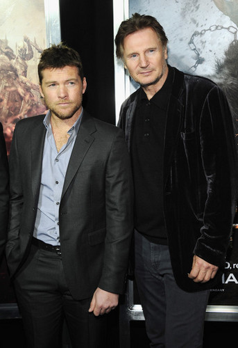 "Liam Neeson wallpaper containing a business suit and a suit entitled ""Wrath Of The Titans"" New York Premiere - Arrivals"