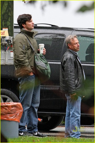 14 October 2010 on the set of Smallville  - tom-welling Photo