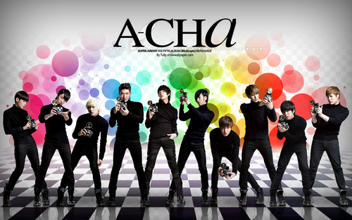 super junior fondo de pantalla with a concierto titled A-CHA!