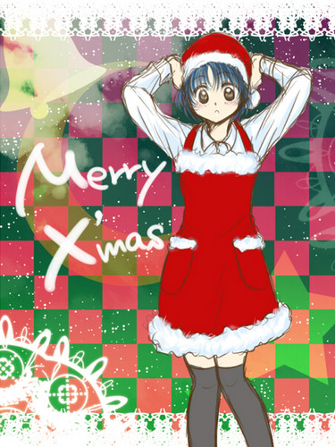 Ranma 1/2 wallpaper possibly with anime called Akane Tendo _ Merry Christmas