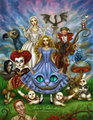 Alice in Wonderland  - alice-in-wonderland-2010 fan art