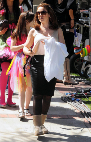 Alyssa - Mistresses - On the set, 3rd April 2012