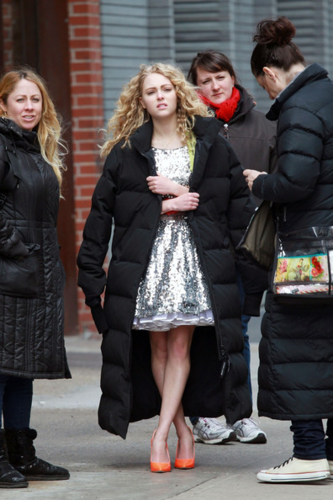 AnnaSophia Robb images AnnaSophia - On set of 'The Carrie Diaries' - April 1st, 2012 wallpaper and background photos