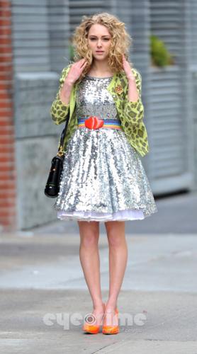 AnnaSophia - On set of 'The Carrie Diaries' - April 1st, 2012