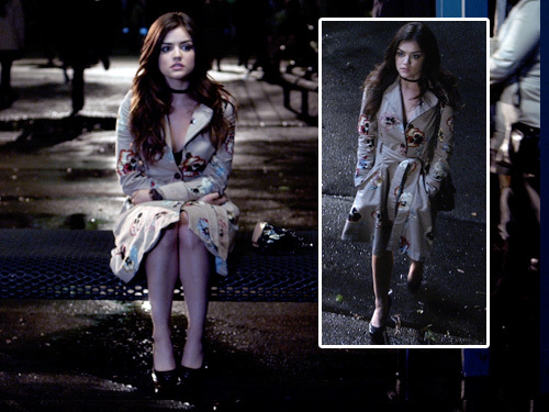 Aria Montgomery achtergrond with a box jas and a well dressed person titled Aria Montgomery Style