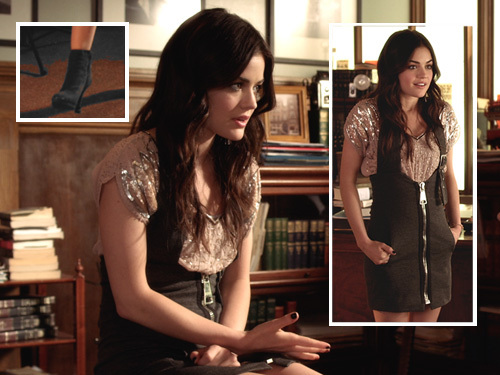 Aria Montgomery fondo de pantalla probably with a lectura room, a sign, and a box capa titled Aria Montgomery Style
