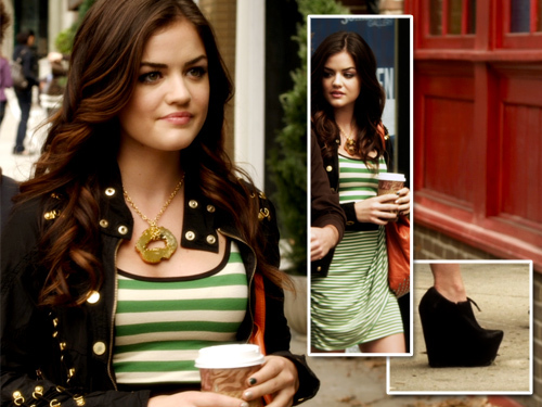 Aria Montgomery wallpaper probably with a portrait called Aria Montgomery Style