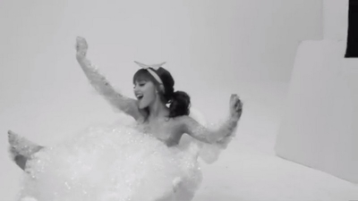 Ariana Grande - Bubble Bath Photoshoot 2012