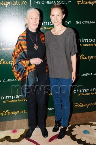 "Attending a screening of ""Chimpanzee"" 由 hosts Disneynature & The Cinema Society, NYC (April 14th 20"