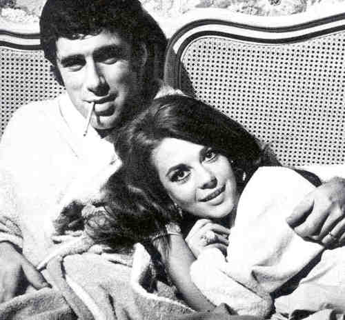 Natalie Wood wallpaper probably with a neonate, skin, and a portrait called B.C.T.A Elliot Gould and Natalie Wood