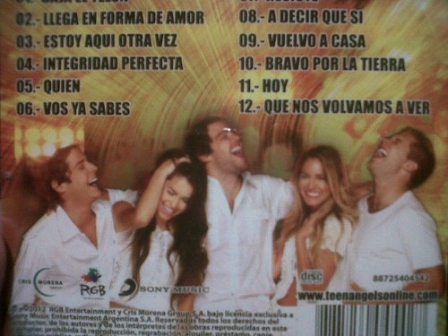 BACK OFF NEW CD OF TEEN ANGELS LA DESPEDIDA 2012 - casi-angeles Photo