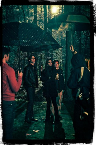 BTS of 3x19 - Scary Marys - damon-and-elena Photo
