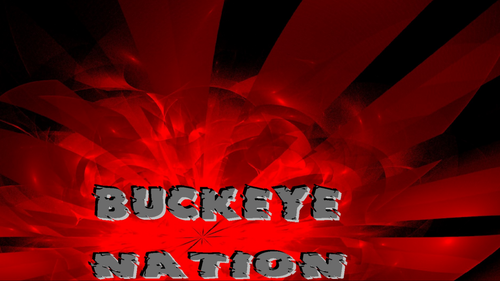 Ohio State Buckeyes fondo de pantalla called BUCKEYE NATION ON AN ABSTRACT