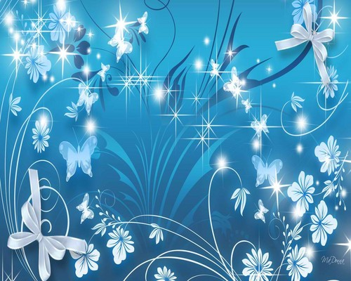 Blue butterflies - cynthia-selahblue-cynti19 Wallpaper