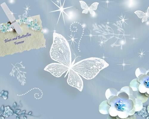 Blue borboletas