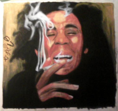 Bob Marley Oil Pastel