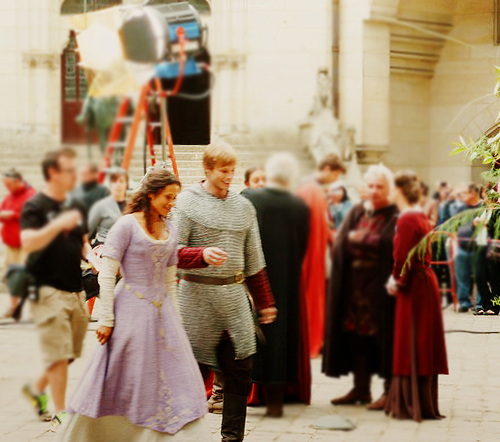 Arthur and Gwen wallpaper entitled Bradley and Angel: BTS Pierrefonds