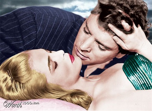 Burt Lancaster and Liz Scott