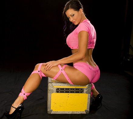 Candice Michelle پیپر وال possibly with a leotard and tights called Candice Michelle Photoshoot Flashback