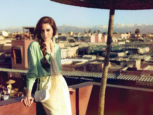 Cansu Dere in Morocco for Elle magazine Turkey