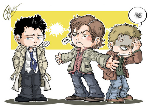 Cas, Dean & Sam - supernatural Fan Art