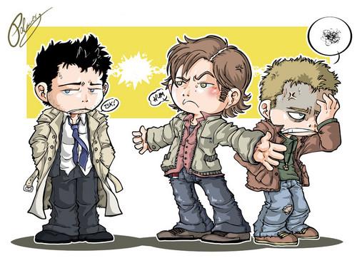 Cas, Dean & Sam