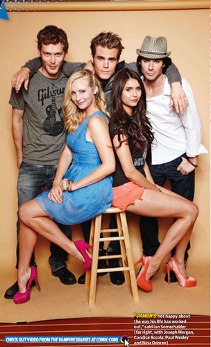 Vampire Diaries fond d'écran entitled Cast